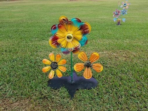 Custom Made Metalwork Flower Sculpture Garden Decor By Raymond Guest