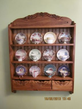 Custom Made Tea Cup Shelf, 12 Cup Connoisseur Edition