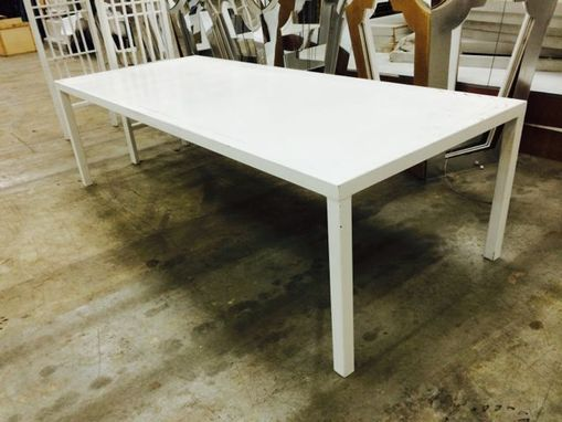 Custom Made White Modern Parsons Table