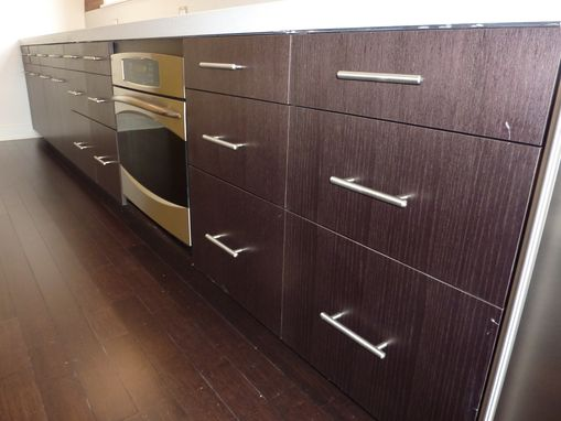 Custom Made Black Veneer Kitchen