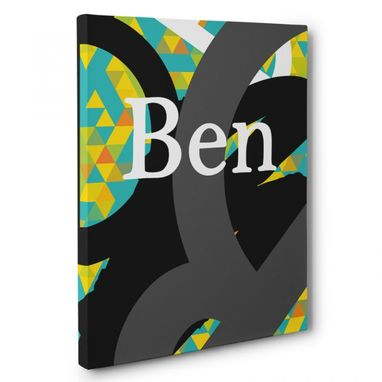 Custom Made B Letter Custom Name Canvas Wall Art