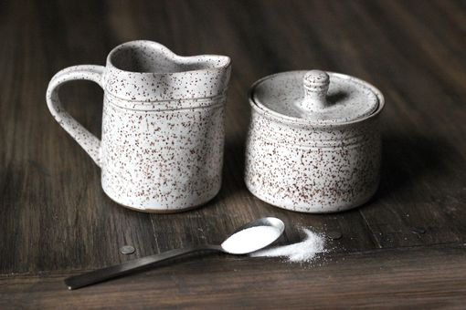 Custom Made Cream And Sugar Bowl Set