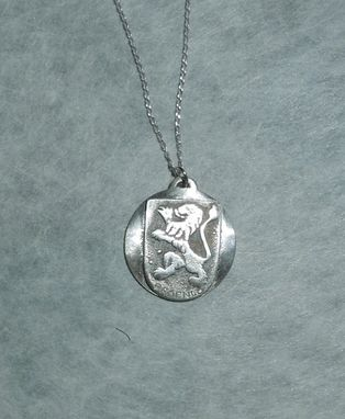 Custom Made Medieval Code Of Arms And City Seal In Sterling Silver