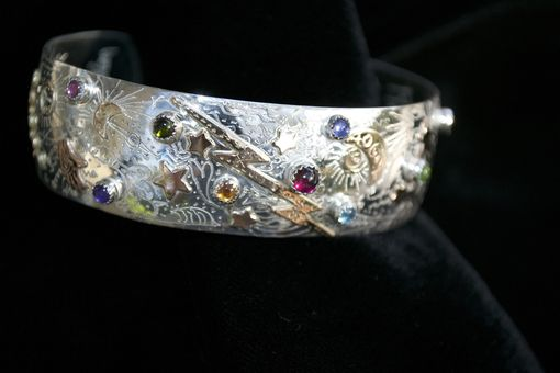 Custom Made Sterling Silver, 14k Gold Fill Cuff Bracelet