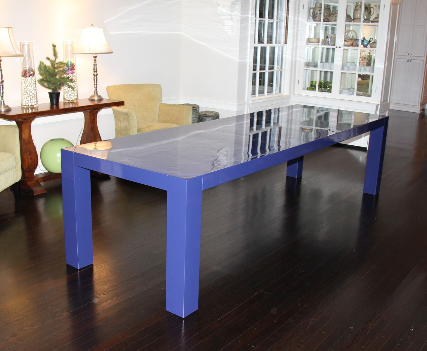 D313 Modern Dining Room Set In White Lacquer Finish: Handmade Lacquer Dining Table By Dorch Design Studio