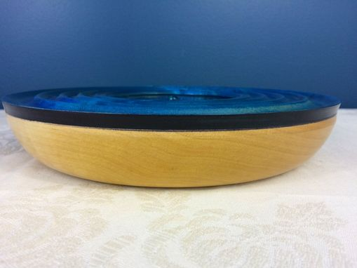 "Custom Made Maple Hand Dyed ""Water Ripples"" Bowl"