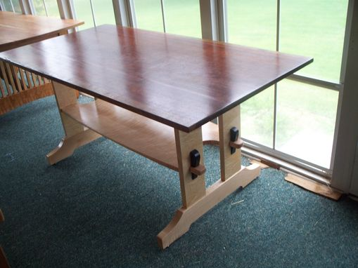 Custom Made Bubinga Trestle Table
