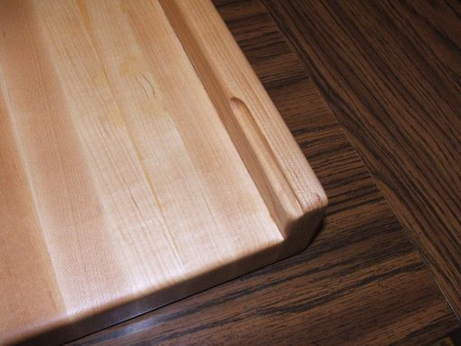 Custom Made Solid Hard Maple Cutting Board With Counter Top Lip Over 24
