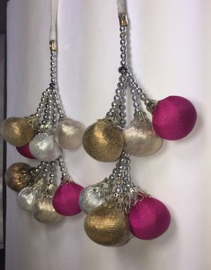 Custom Made Golden, Silver, And Hot Pink Decorative Tassle Balls