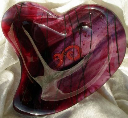 Custom Made Fused Glass Heart Bowl