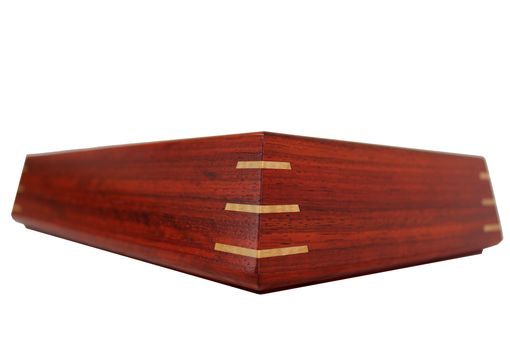 Custom Made Valet Box | Solid Padauk And Birdseye Maple