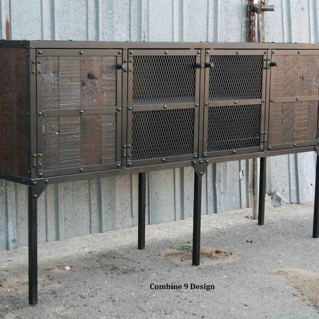Buy a Custom Made Buffet/Hutch. Vintage Industrial Modern. Distressed,  Reclaimed Wood. Rustic. Media Console, Tv Stand, made to order from Combine  9 ... - Buy A Custom Made Buffet/Hutch. Vintage Industrial Modern