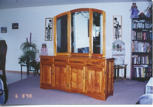 Custom Made Canary Wood  Cabinets.