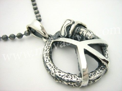 Custom Made Unique Sterling Silver Peace Soldier Army Pendant Chain