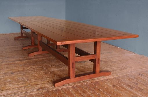 Custom Made Sixteen Foot Trestle Dining Table