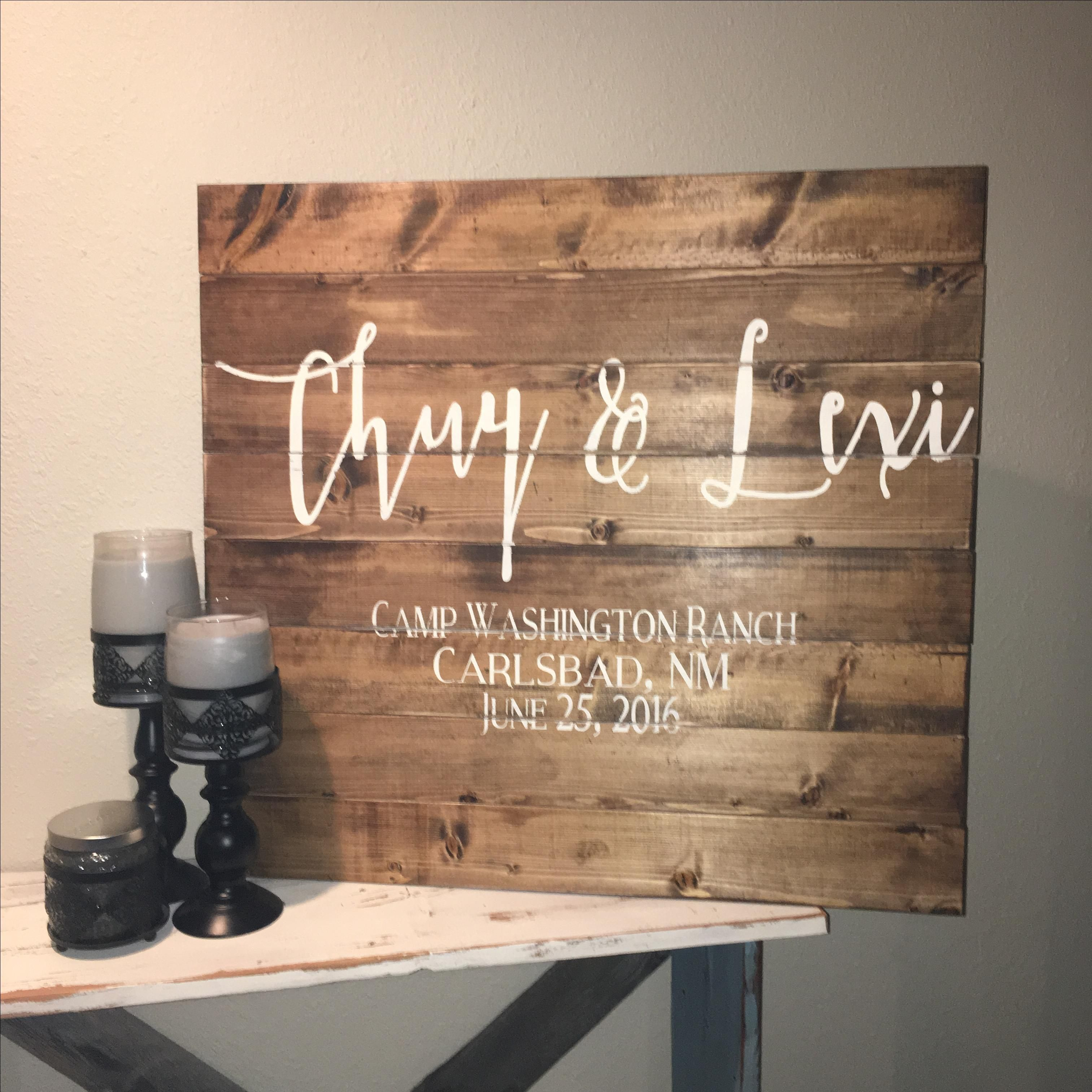 Wedding Table Wedding Sign In Book hand made 30x30 wedding guest book wood sign alternative custom with heart couples last