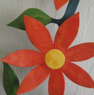 Custom Made Metal Flower Sculpture  Home Decor Wall Kitchen Decor 22 X 42