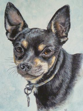Custom Made Hand Painted Pet Portrait 'Jett'