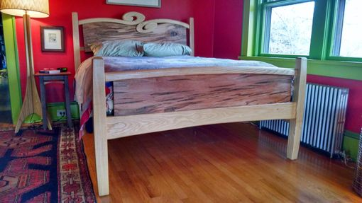 Custom Made Curly Cue Carved Bed