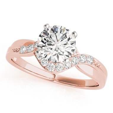 Custom Made Spectular Ladies 14k Rose Gold Diamond Engagement 1/6 Ct