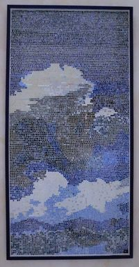 Custom Made Wall Decor Blue Sky And Clouds Mosaic