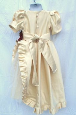 Custom Made Baptismal Christening Gown, Flower Girl Dress From Your Old Wedding Dress
