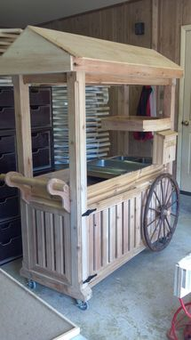 Custom Made Mobile Bar/ Buffet Table