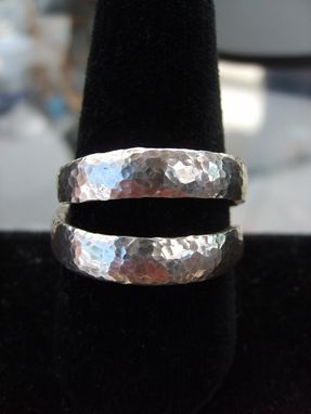 Custom Made Sterling Silver Double Coil Wedding Ring
