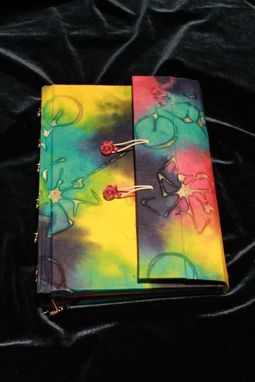 Custom Made Bike Journal With Dual Pen Holders And Built-In Pocket