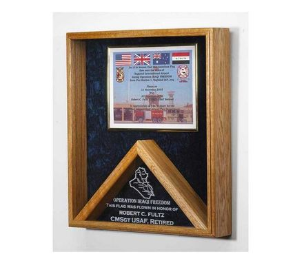 Custom Made Flag And Certificate Case And Flag Frame