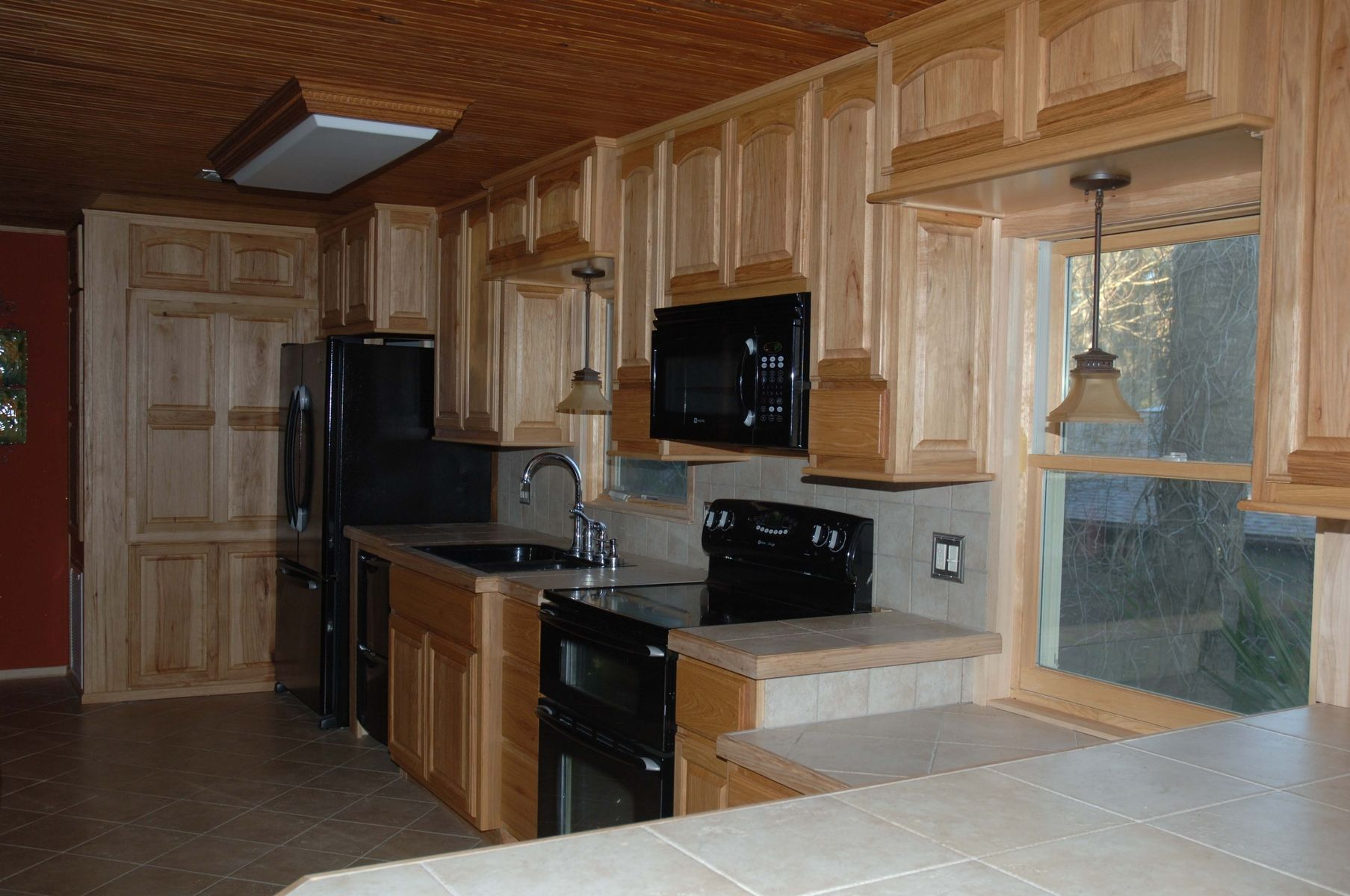 Custom Hickory Kitchen Cabinets by Natural Mystic Woodwork ...