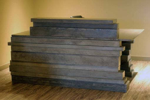 Custom Made Concrete Reception Desk