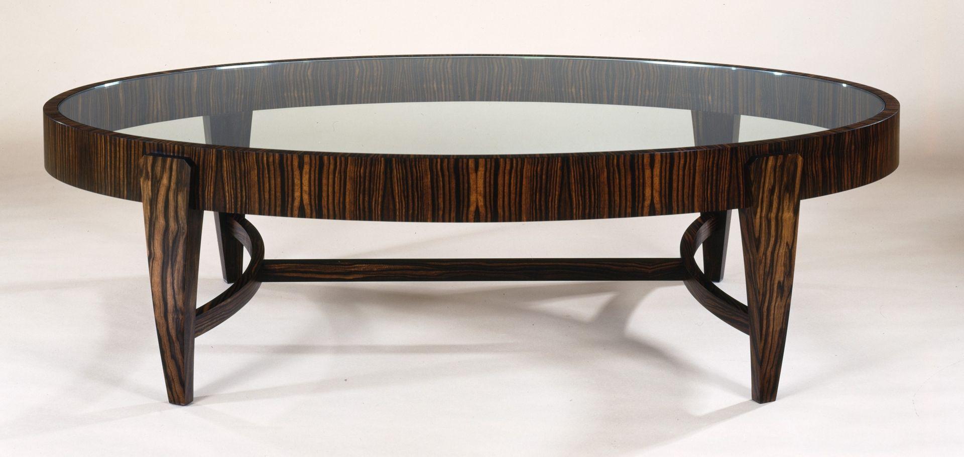 Custom Tusk Oval Coffee Table By Gregg Lipton Furniture