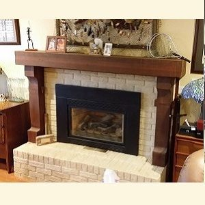Custom Made Rustic Fireplace Mantle Made From Reclaimed Cedar Lumber