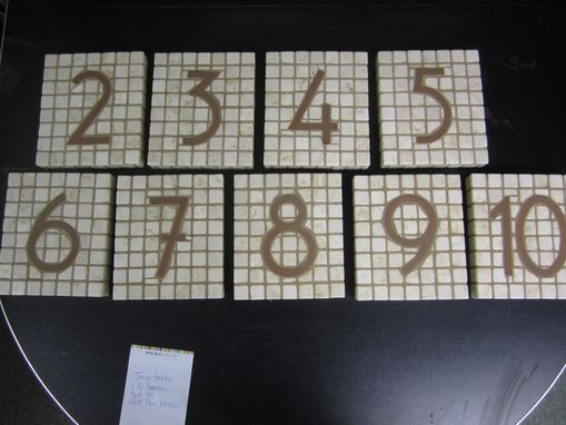 Custom Made Custom Tiled Office Numbers For Above The Doors