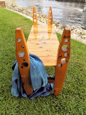 Custom Made Cedar Garden Bench