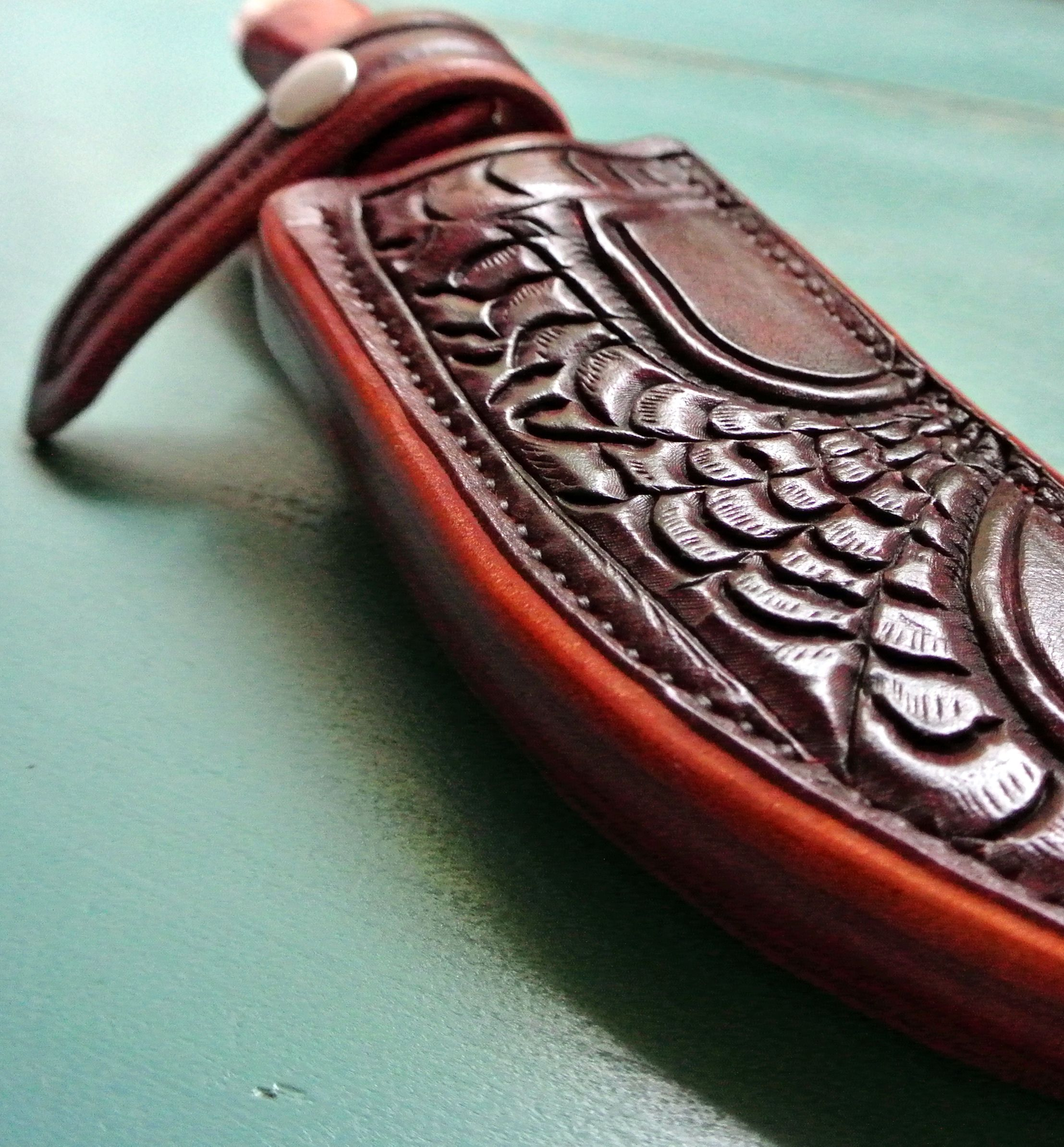 Custom Made Leather Knife Sheath Albany Addition By Strong Horse Leather Custommade Com