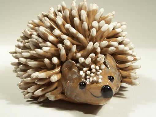 Custom Made Hedgehog Folkart Sculpture