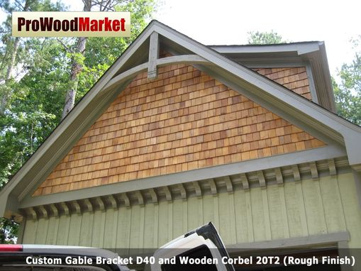 Hand Crafted Custom Gable Bracket D40 And Wooden Corbel