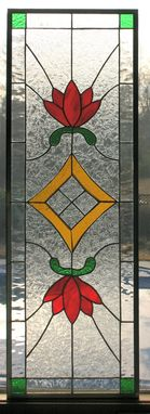 Custom Made Traditional Stained Glass Cabinet Insert
