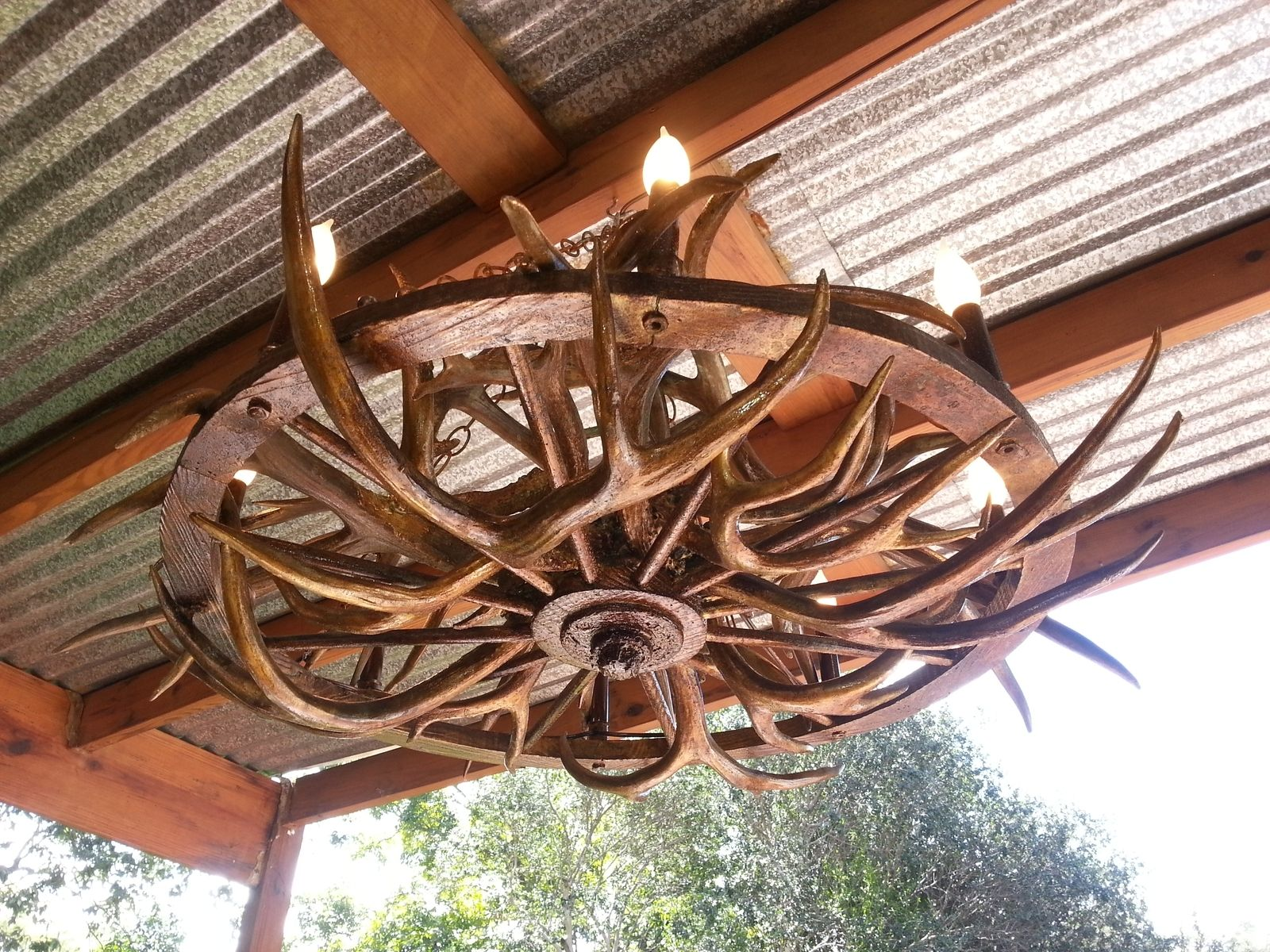 Hand crafted beautiful unique handmade art aged gold antler wagon hand crafted beautiful unique handmade art aged gold antler wagon wheel chandelier by gilded wild custommade arubaitofo Image collections