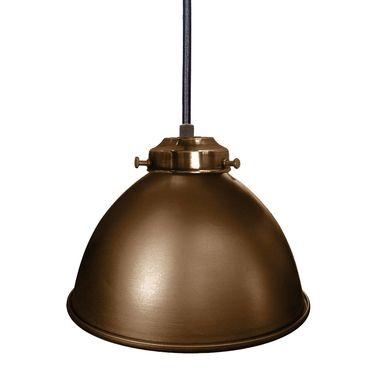 "Custom Made Dome 7"" Metal Shade Pendant Light- Bronze"