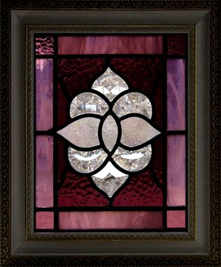 Custom Made Stained Glass - Bevels And Purple Textures