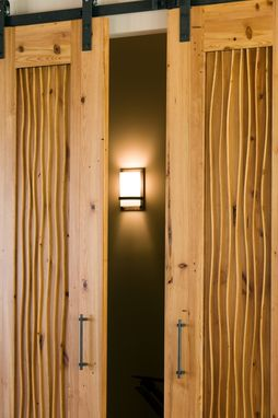 Custom Made Custom Heart Pine Sliding Doors