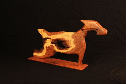 Custom Made Dog Carved From  Wood