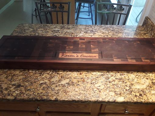Custom Made Engraved Walnut End Grain Cutting Board