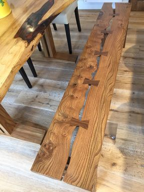 Custom Made Live Edge Trestle Table