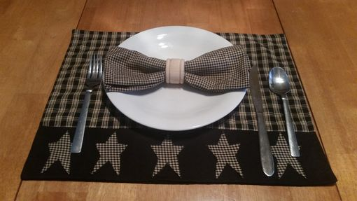 Custom Made Primitive Linen Placemats