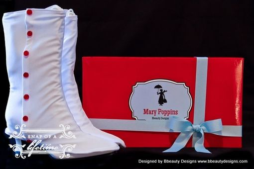Custom Made Mary Poppins Custom Spats And Victorian Jolly Holiday Boots Adult Costume