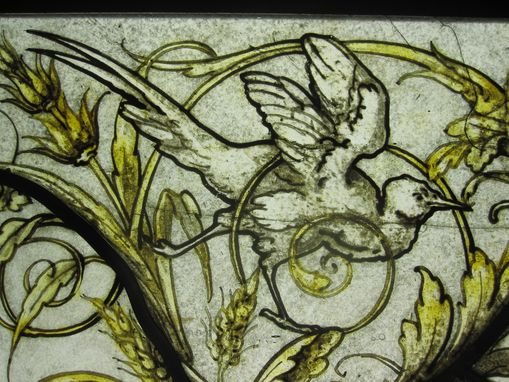 Custom Made Michel Lienard Stained Glass Panel